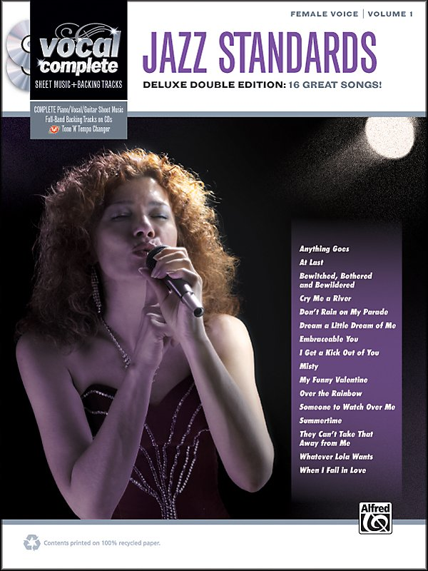 Alfred - Jazz Standards Female Voice  - Book & 2 CDs